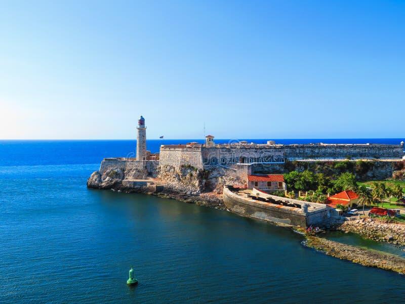 Маяк Гаваны, Кубы форта Cabana Ла стоковое фото rf