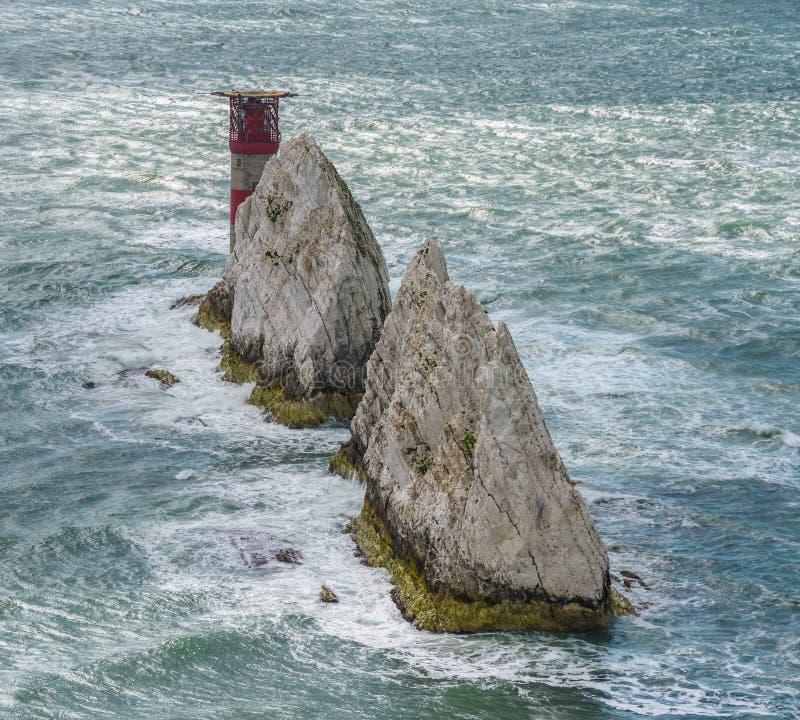 Маяк игл, остров Уайт, конец-вверх стоковое фото rf