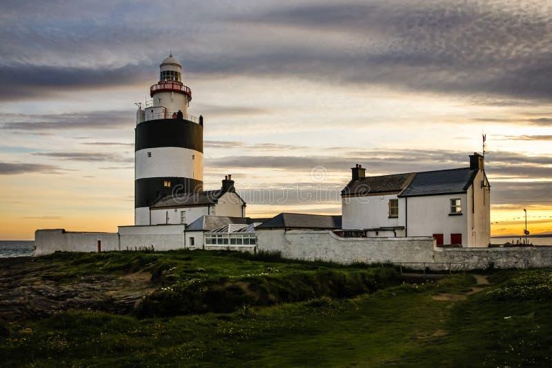 Маяк крюка головной Wexford Ирландия стоковое фото rf