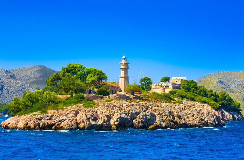 Маяк, Мальорка, Балеарский остров, Испания стоковые фото