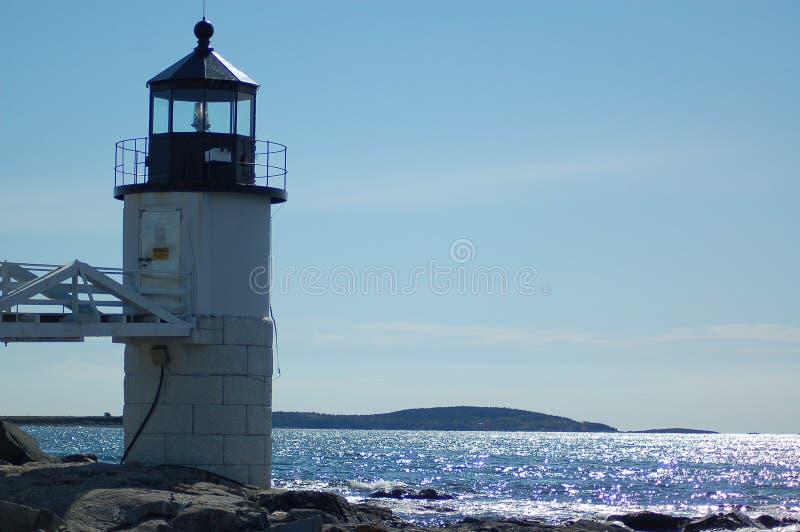 маяк Мейн стоковая фотография rf