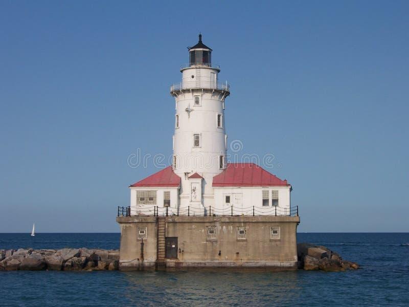 маяк Мичиган озера стоковое изображение rf