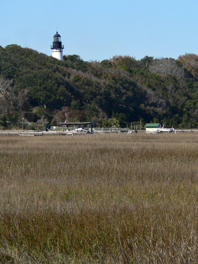 маяк острова amelia стоковые фотографии rf
