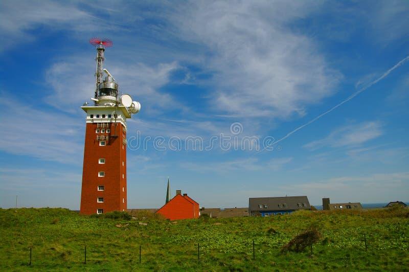 маяк острова helgoland Германии стоковое фото rf