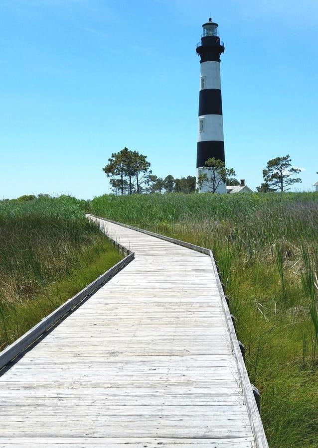 маяк света острова 1872 полос черный построенный bodie горизонтальный был бел стоковое изображение