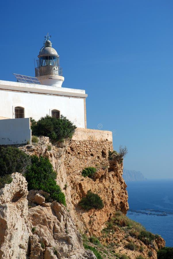 маяк свободного полета среднеземноморской стоковая фотография rf