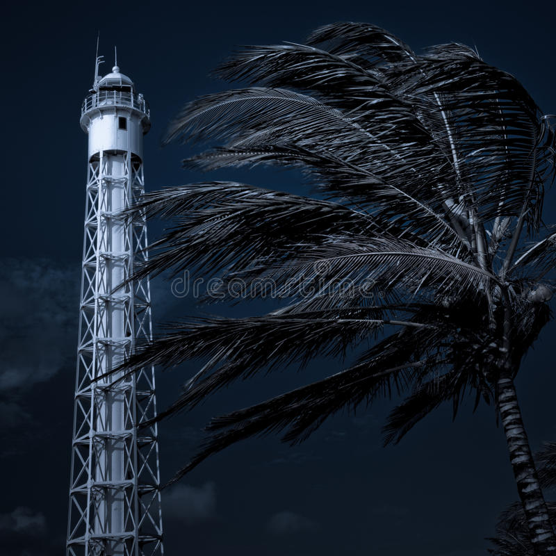 маяк син стоковая фотография