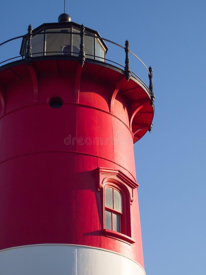 Маяк трески накидки красный и белый Фолмут стоковое изображение rf