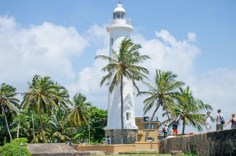 Маяк форта Галле в Шри-Ланка место страны интереса стоковые изображения rf