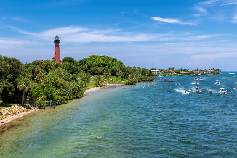 Маяк Юпитера в Palm Beach County, Флориде стоковое фото rf