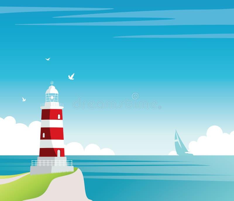 маяк бесплатная иллюстрация