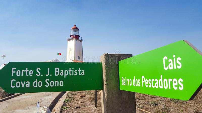 Маяк Berlengas, Peniche, Португалия стоковое изображение rf