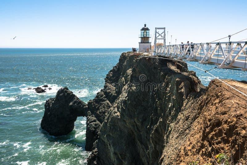 Маяк Bonita пункта, Калифорния стоковое фото rf
