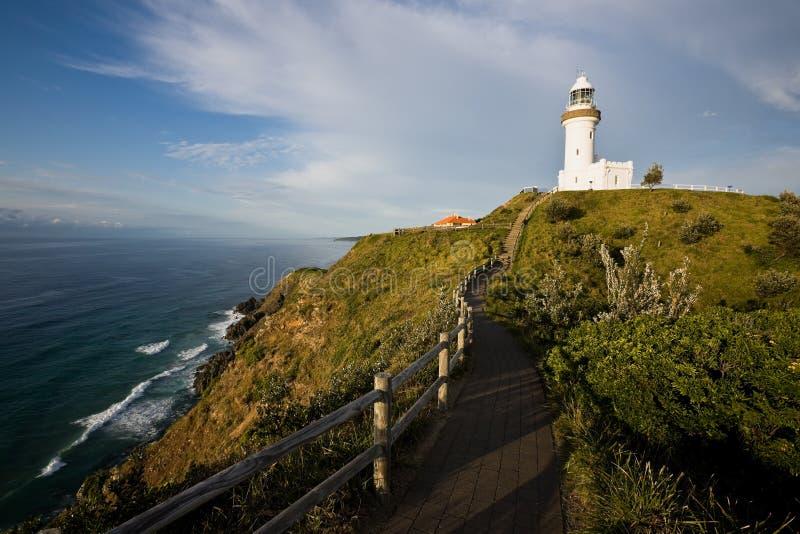 маяк byron залива Австралии стоковая фотография