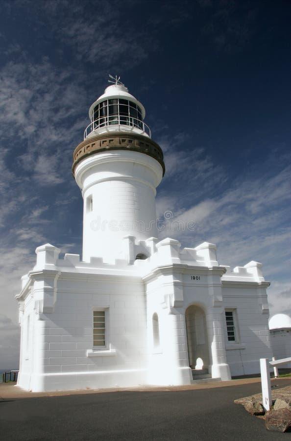 маяк byron залива стоковая фотография rf