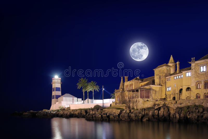 маяк cascais стоковые фотографии rf