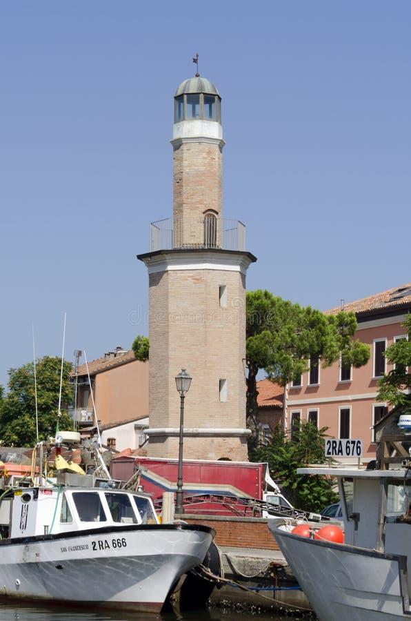 Маяк Cervia, Италии стоковое изображение