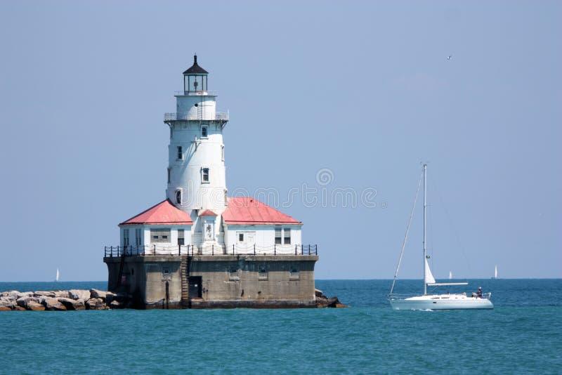 маяк chicago стоковое фото rf