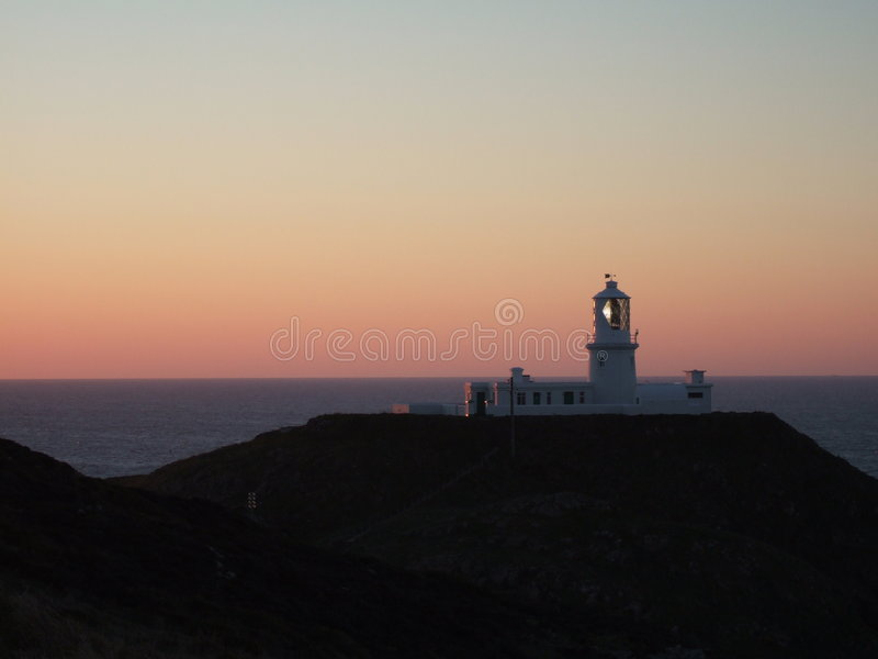 маяк fishguard стоковое изображение