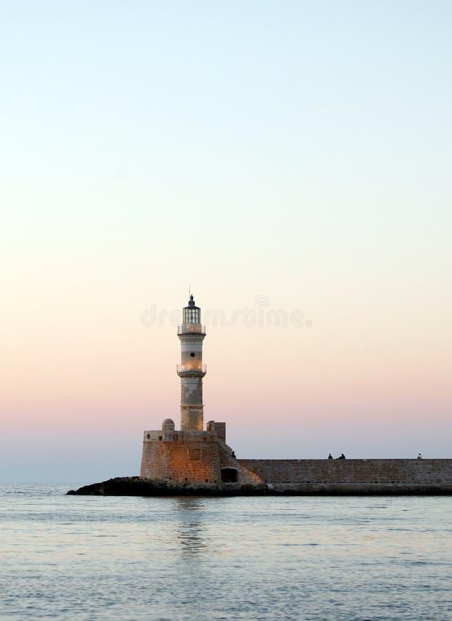 маяк hania сумрака стоковая фотография rf