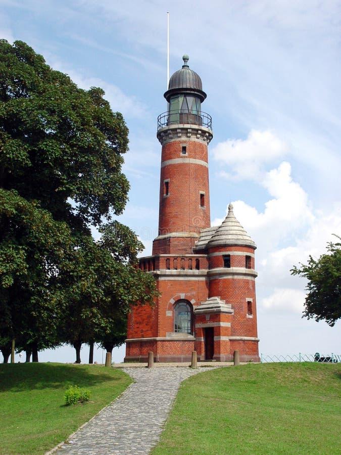 маяк holtenau стоковая фотография rf