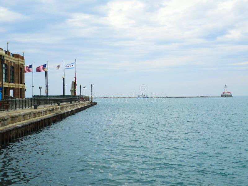 Маяк Lake Michigan стоковые изображения rf