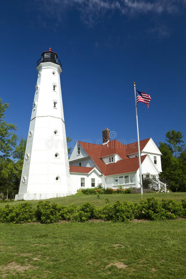 маяк North Point стоковое фото