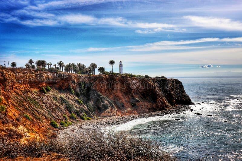 Маяк Rancho Palos Verdes Vicente пункта стоковое изображение rf