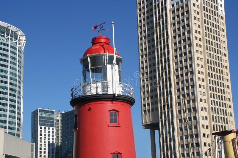 маяк rotterdam урбанский стоковое изображение rf