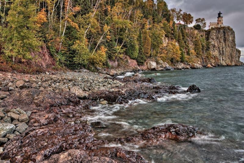 Маяк Splitrock популярный парк штата во время всех сезонов стоковые фотографии rf