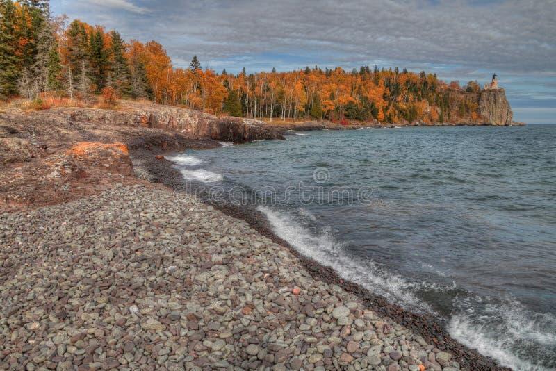 Маяк Splitrock популярный парк штата во время всех сезонов стоковое изображение rf
