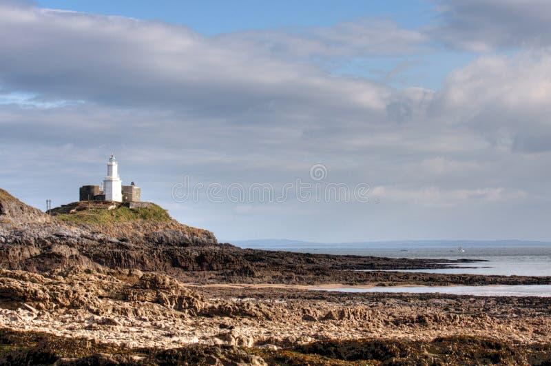 маяк swansea вэльс западный стоковое изображение