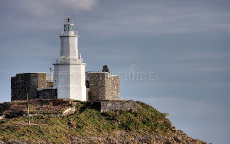 маяк swansea вэльс западный стоковое фото