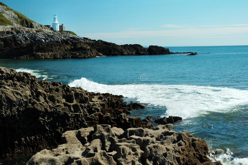 маяк swansea стоковое фото