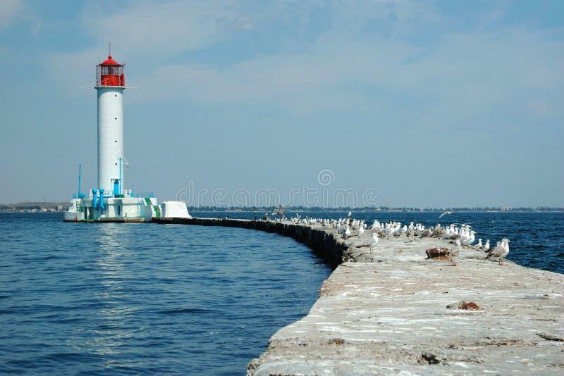 Маяк Vorontsov, залив Одесса, Украина стоковое фото