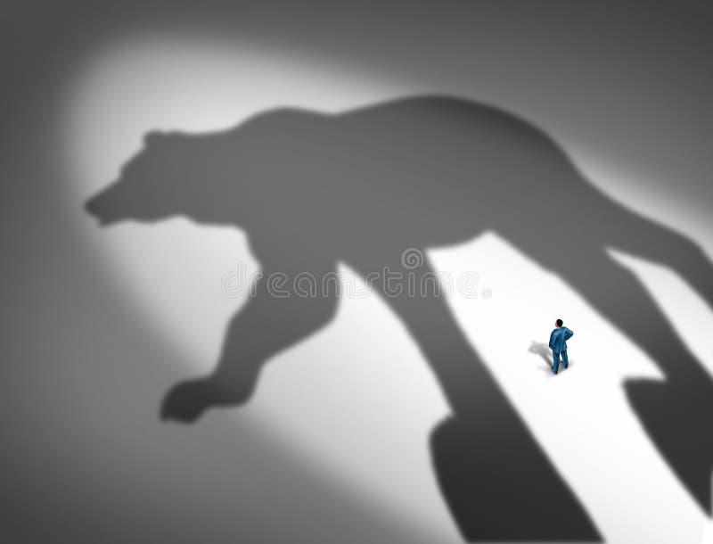 Маяча финансовый кризис иллюстрация штока