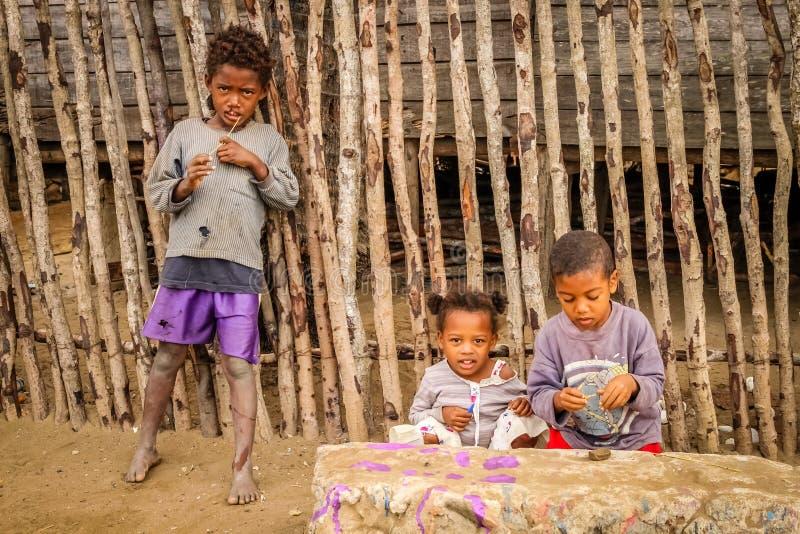 Малагасийские дети стоковые фото