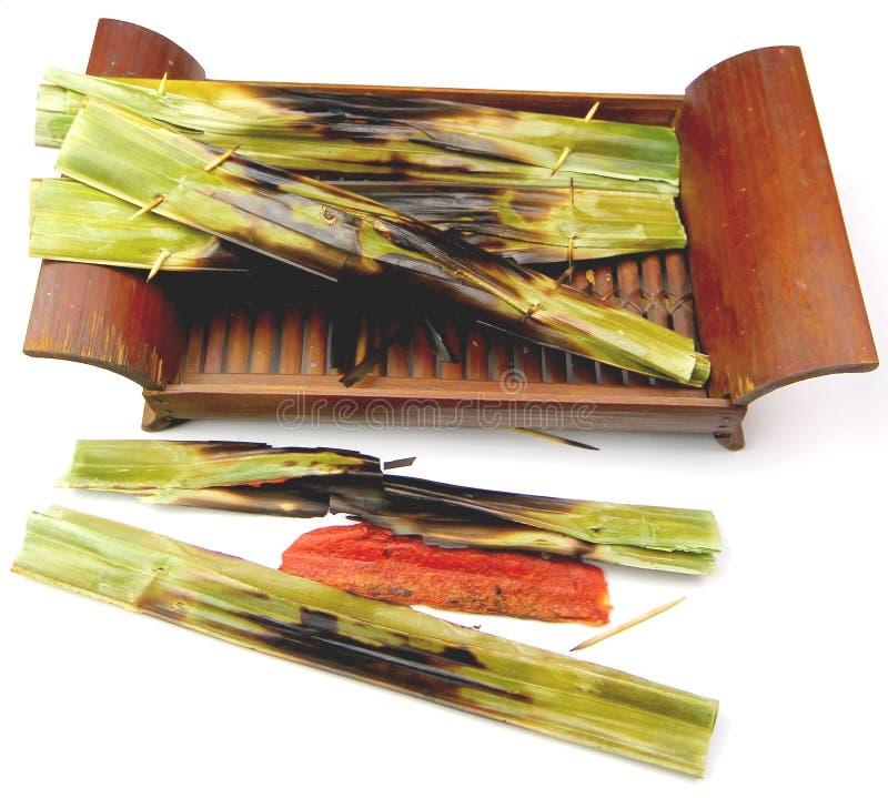 Малайзийские деликатесы Otak Otak стоковое изображение
