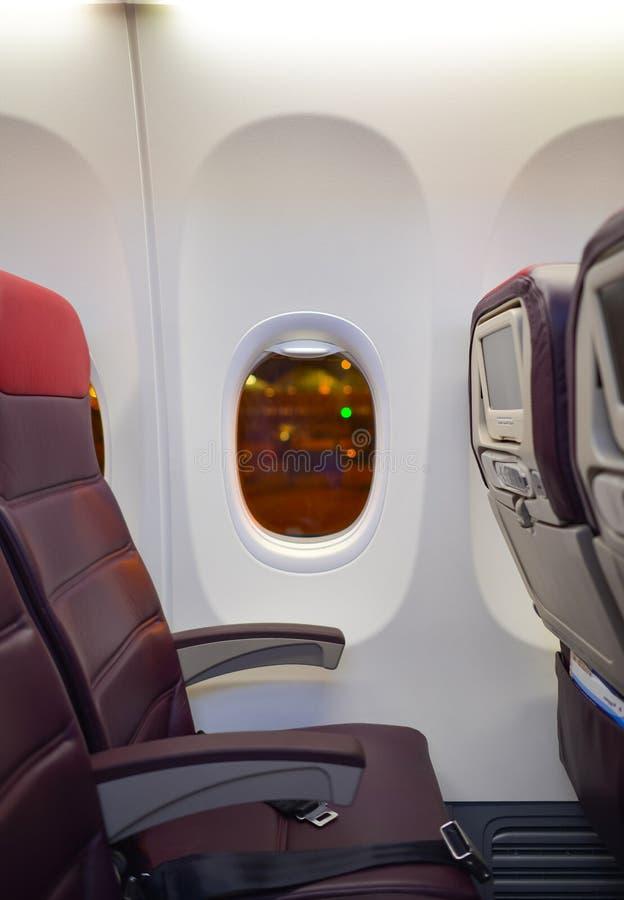 Малайзийский интерьер Боинга 737 авиакомпаний стоковые изображения
