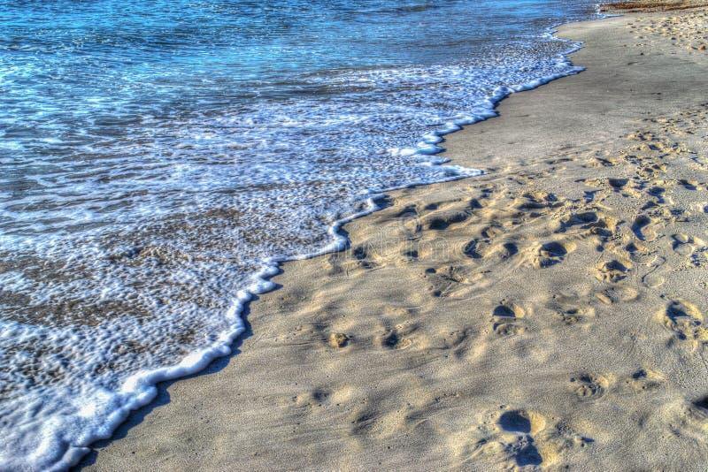 Малая волна берегом в Alghero в hdr стоковое фото rf