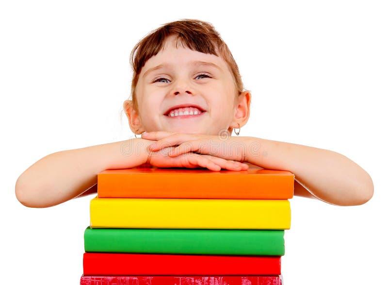 Малая девушка с книги стоковое фото rf
