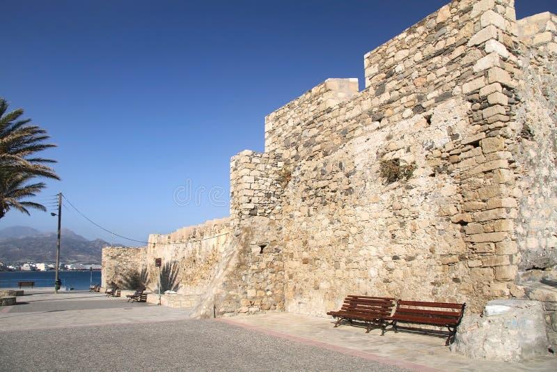 Малая крепость Cales в Ierapetra Крит стоковое фото