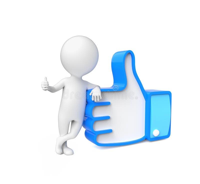 Малая персона показывая большой палец руки вверх бесплатная иллюстрация