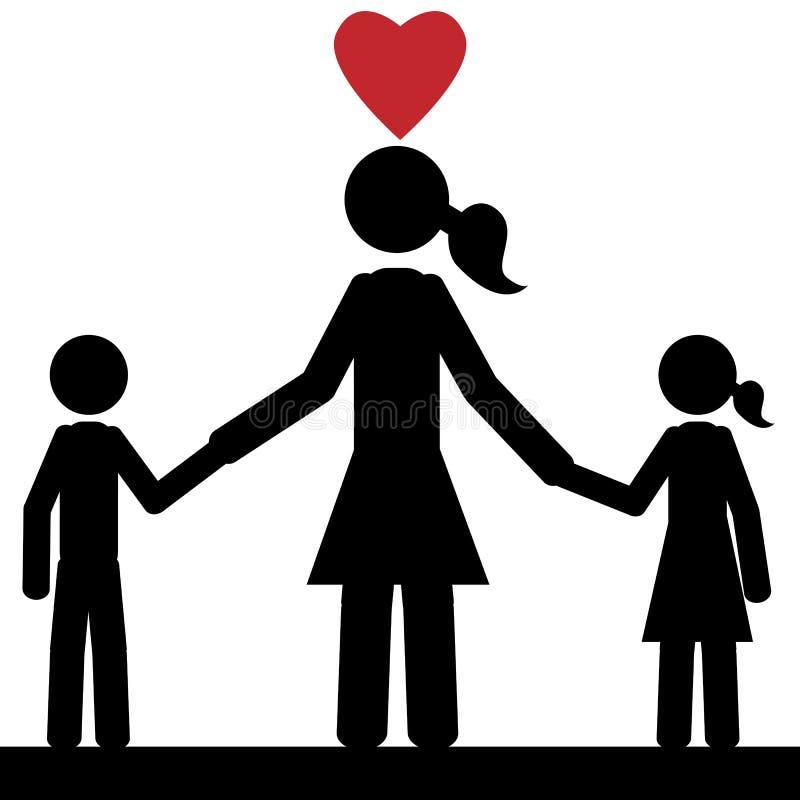 Малая семья бесплатная иллюстрация