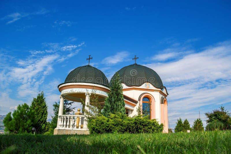 Малая церковь в горе стоковое фото
