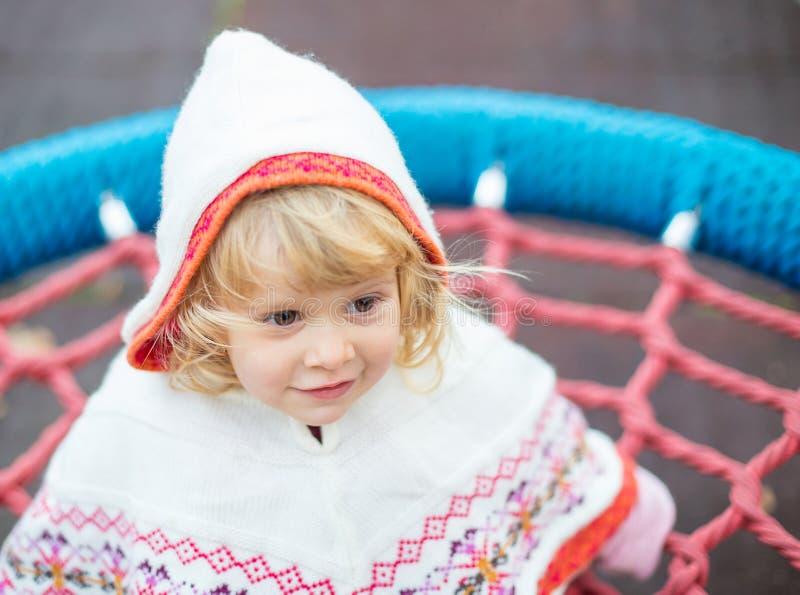 Маленькая дама в hoodie стоковое изображение rf