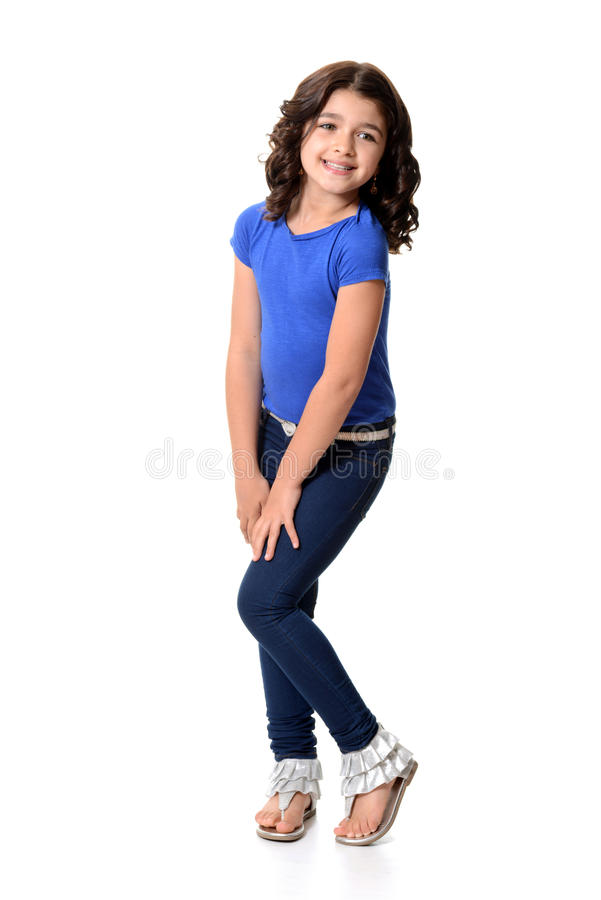 Маленькая девочка быть милый стоковые изображения rf