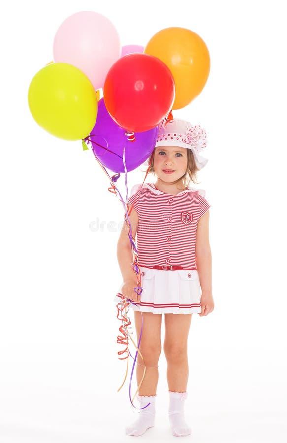 Маленькая девочка в матросе стоковая фотография