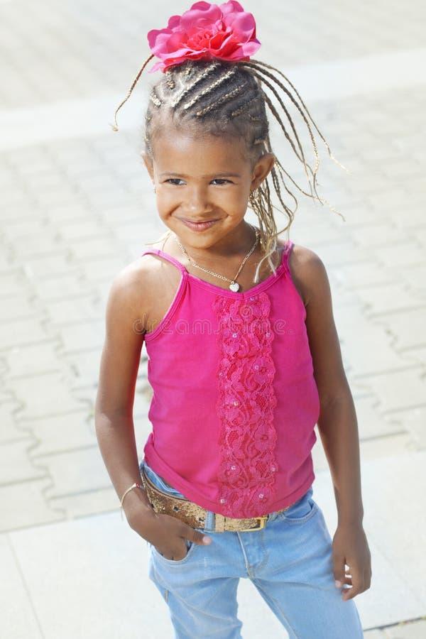 Маленькая девочка моды стоковое фото rf