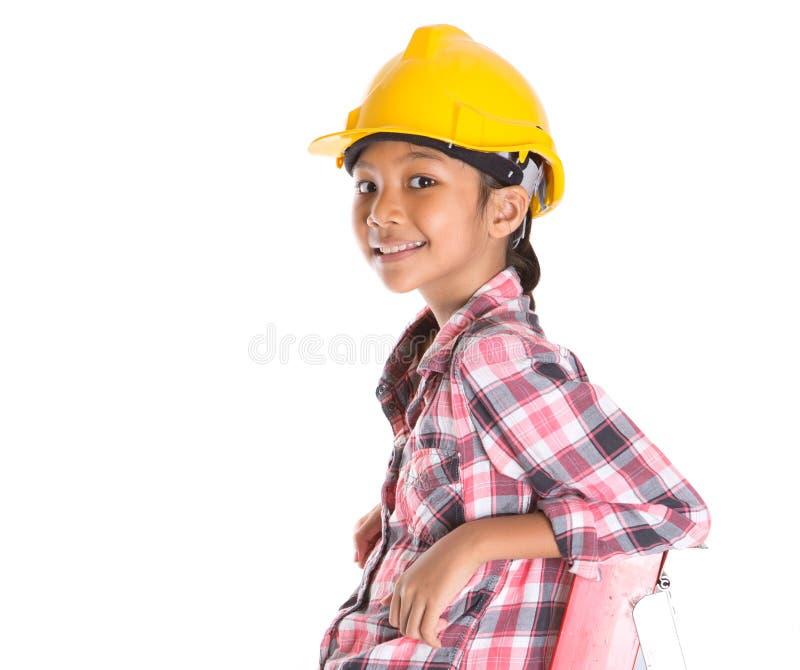Маленькая девочка на лестнице II стоковое изображение